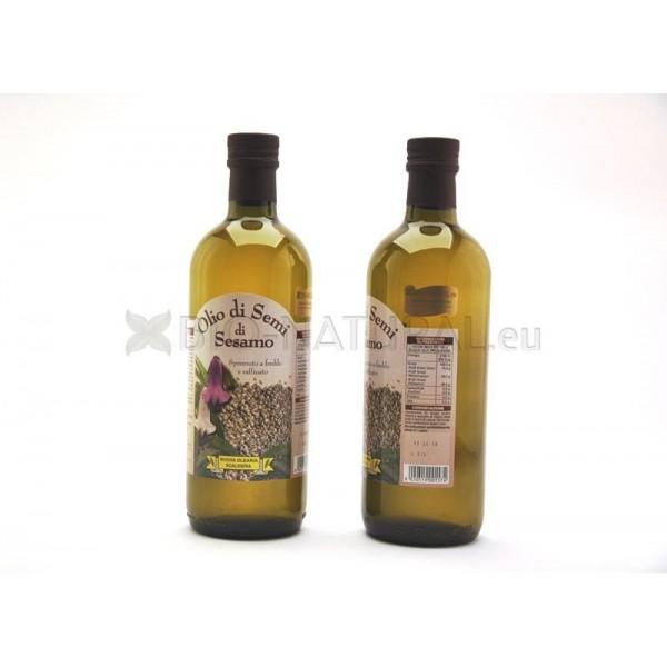 Olio di semi di sesamo selezionati geneticamente non modificati - Olio di sesamo per cucinare ...