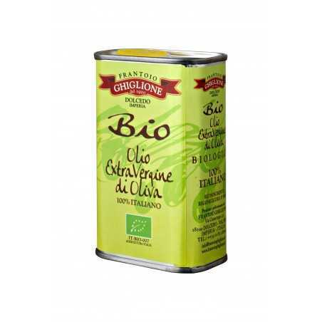BIOLOGICAL EXTRA VIRGIN OLIVE OIL CAN - GHIGLIONE - 250 ML.