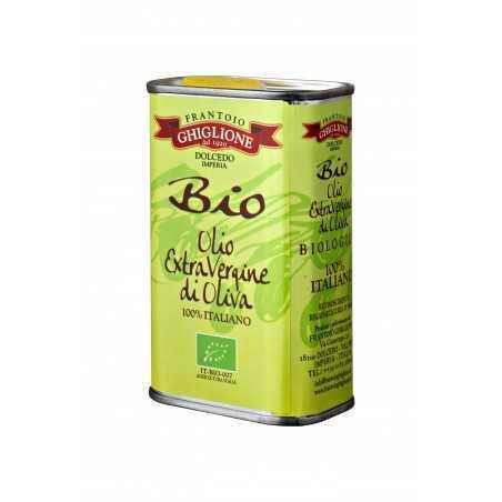 Olio extravergine di oliva biologico latta 250 ml Ghiglione