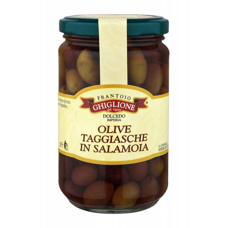 Taggiasca-Oliven in Salzlake 310 gr