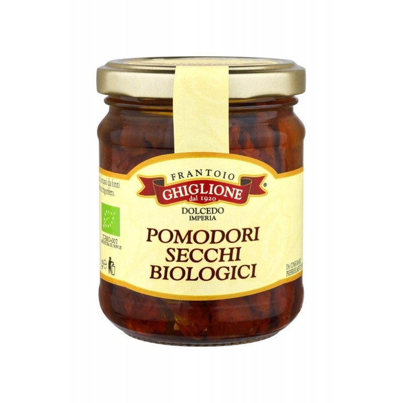 ORGANIC DRIED TOMATOES in extra virgin olive oil - Frantoio Ghiglione