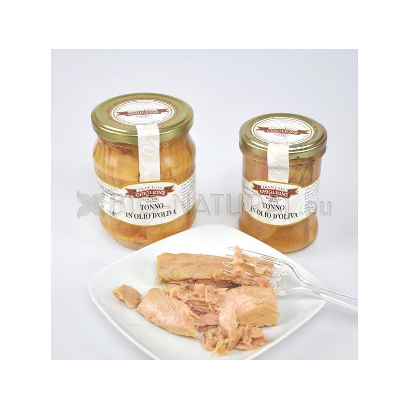 Gelb Thunfischfilet mit Olivenöl 100% Italienisch 300 gr