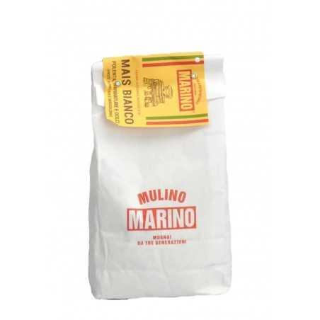 Stone ground organic white corn flour - Mulino Marino 1 kg