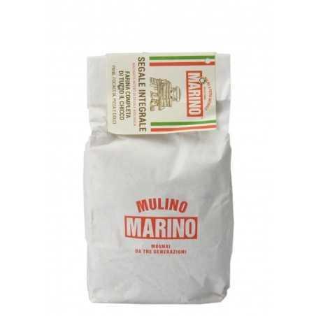 Stein gemahlenes Vollkornroggenmehl - Mulino Marino 1 kg