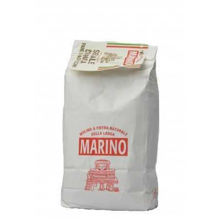 Stein gemahlenes weißes Roggenmehl - Mulino Marino 1 kg
