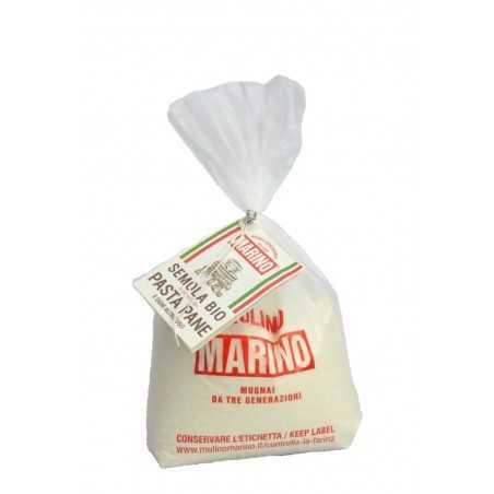 Stone ground organic durum wheat semolina flour - Mulino Marino 1 kg