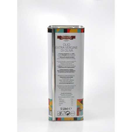 Extra Virgin Olive Oil 5 L side tin