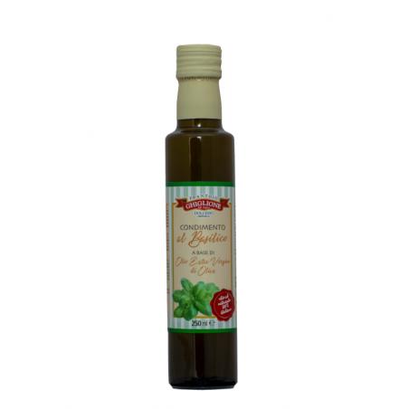 OLIO AROMATIZZATO AL BASILICO 250 ml GHIGLIONE
