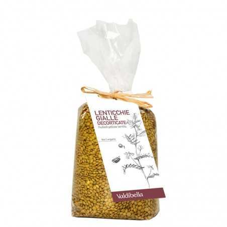 Organic hulled yellow lentils Valdibella