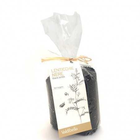 Organic hulled black lentils Valdibella 500gr